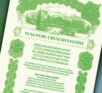 Wagners Urlaubsanleihe